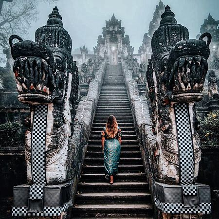 Bali Gate of Heaven with Dragong Statues
