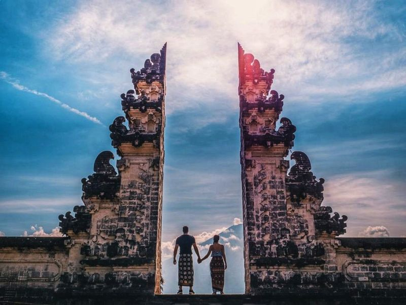 The Couple in The Middle of Lempuyangs Gate