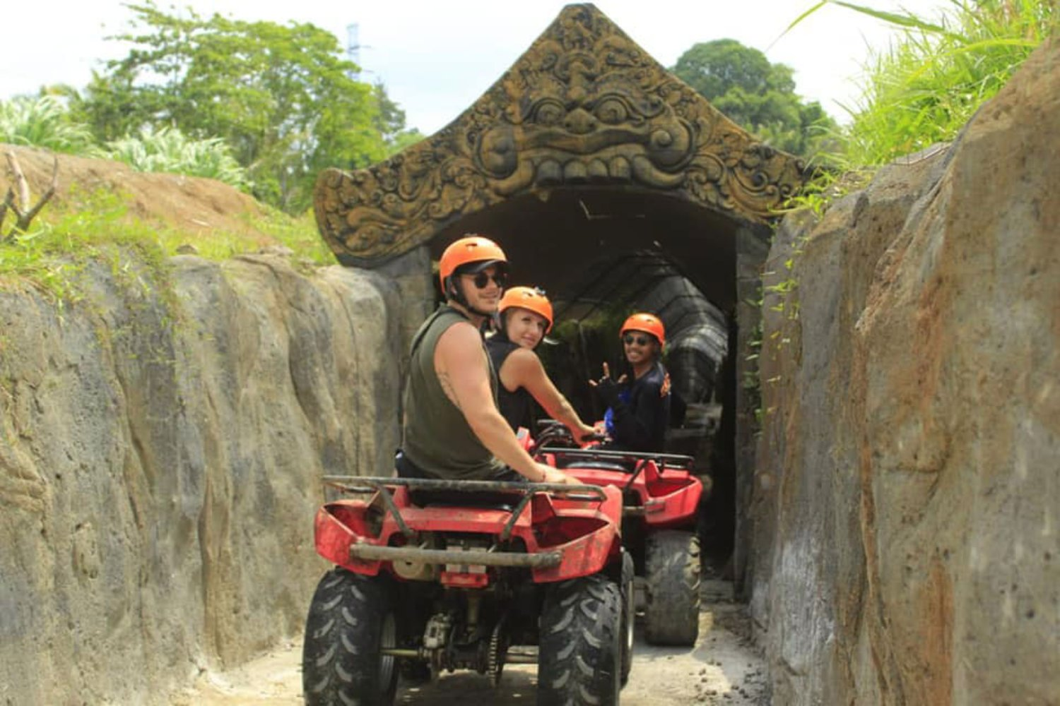 Ubud ATV Riding in Cave Track