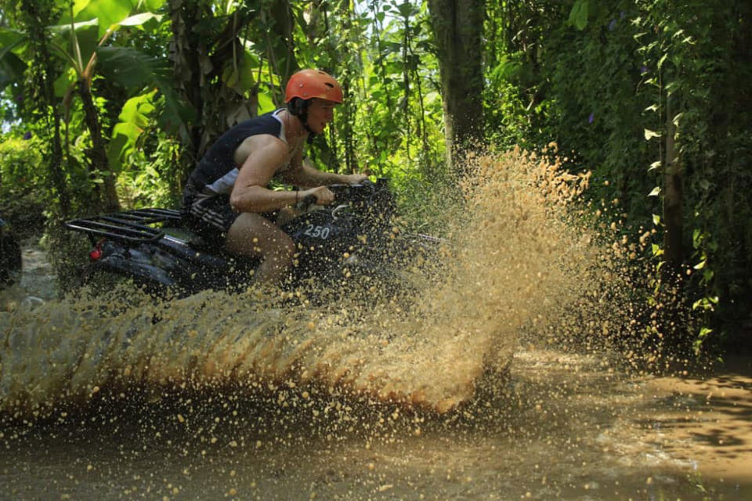 Wet and Muddy Track in Bali Quad Bike Adventure